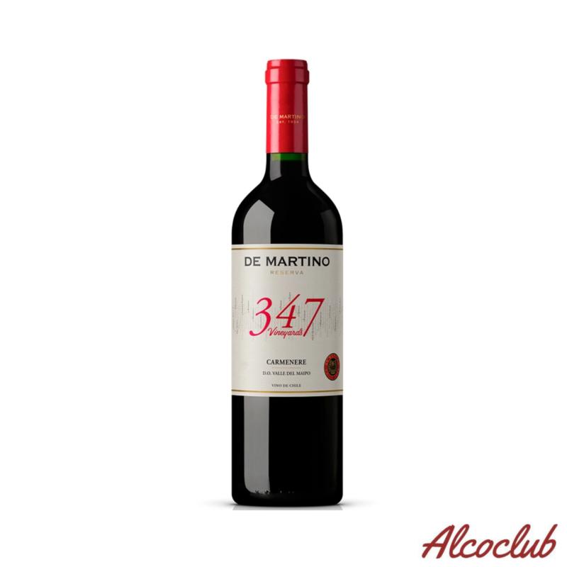 """Вино красное сухое DE MARTINO RESERVA """"347 VINEYARDS"""" CARMENERE, 0,75л. 13% Купить в Украине"""
