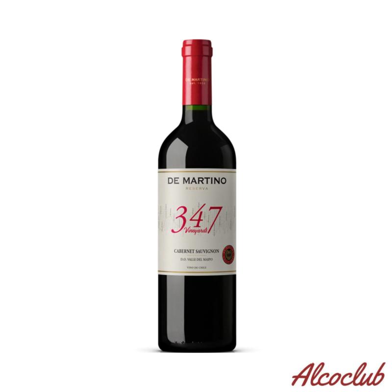 """Вино красное сухое DE MARTINO RESERVA """"347 VINEYARDS"""" CABERNET SAUVIGNON, 0,75л. 13% Купить в Украине с доставкой"""