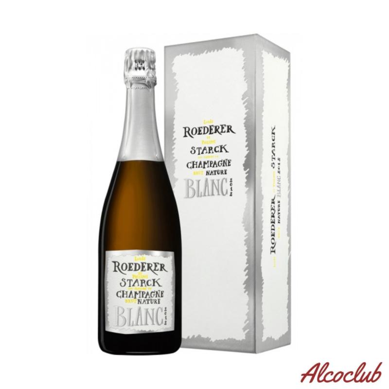 Заказать в Киеве белое шампанское Louis Roederer Nature Brut Philippe Starck Vintage 2012 DeLuxe Gift Box Франция
