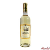 Купить с доставкой Вино Baron de Lirondeau, белое полусладкое 0.75л Франция