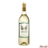 Заказать в Киеве Вино Baron de Lirondeau, белое сухое 0.75л Франция